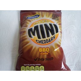 MC VITIE'S BAKED MINI CHEDDARS BBQ FLAVOUR