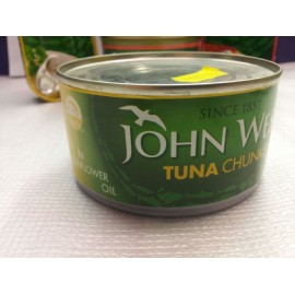 JOHN WEST TUNA IN SUNFLOWER OIL