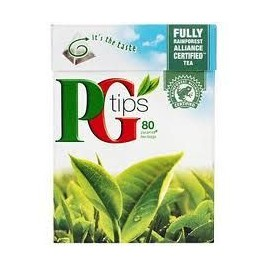 PG TIPS 80 TEABAGS