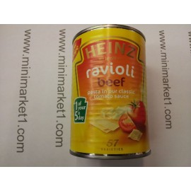 HEINZ RAVIOLI BEEF IN TOMATO SAUCE 400G