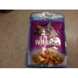 WHISKAS WITH TUNA IN JELLY 100G